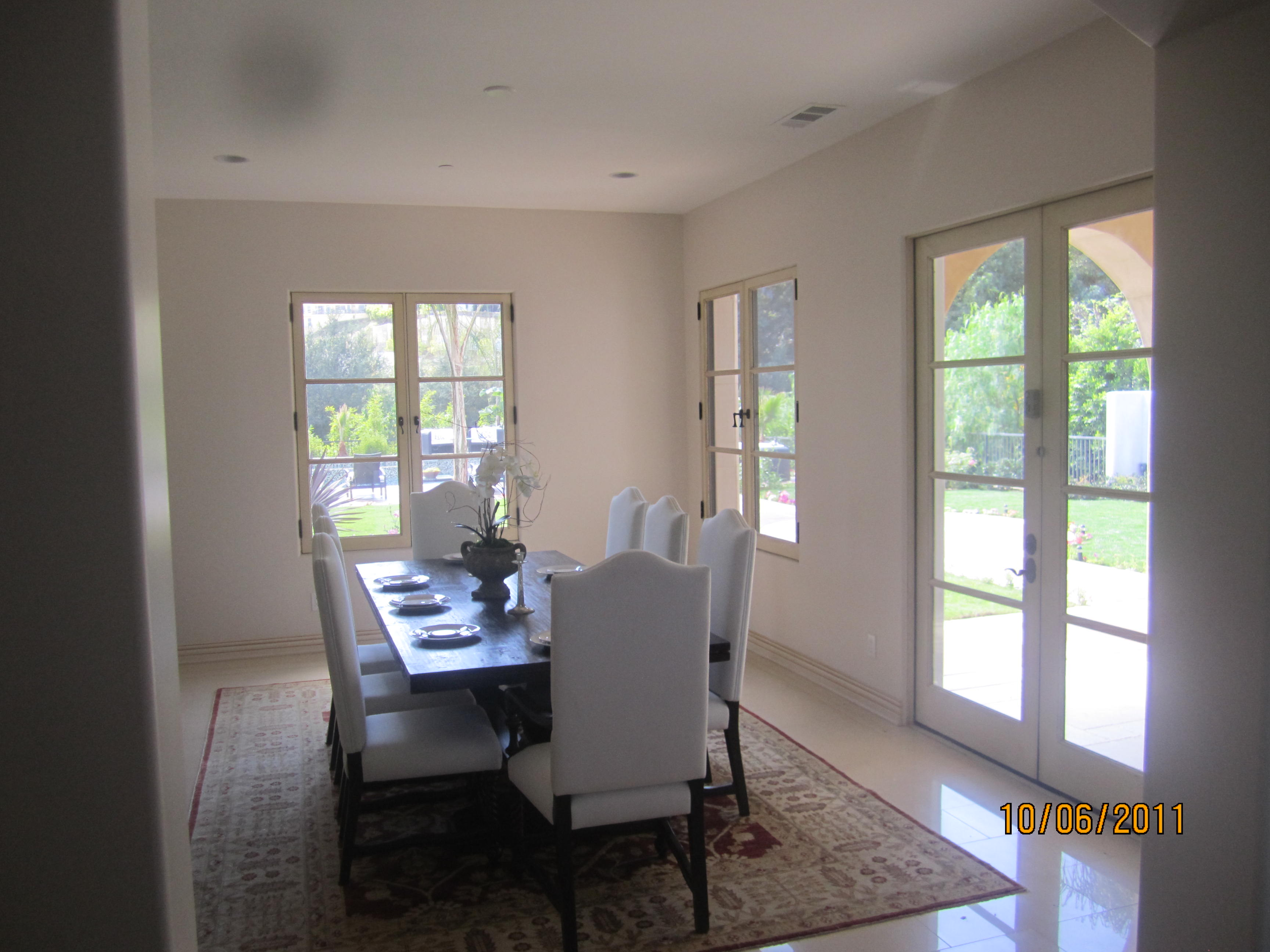 Kitchen Interior Window Screens and French Doors Malibu
