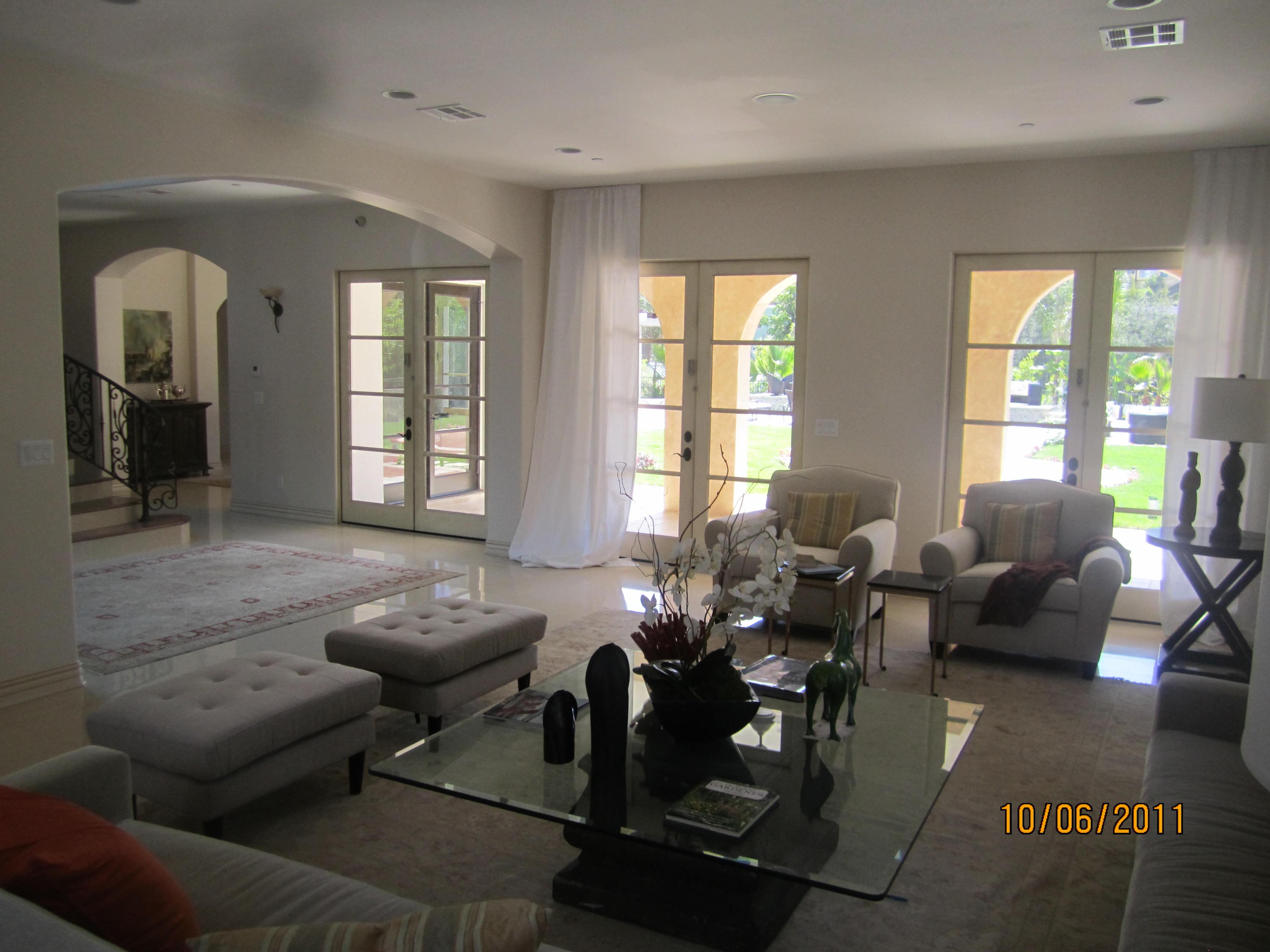 Interior Window Screen in Living Room