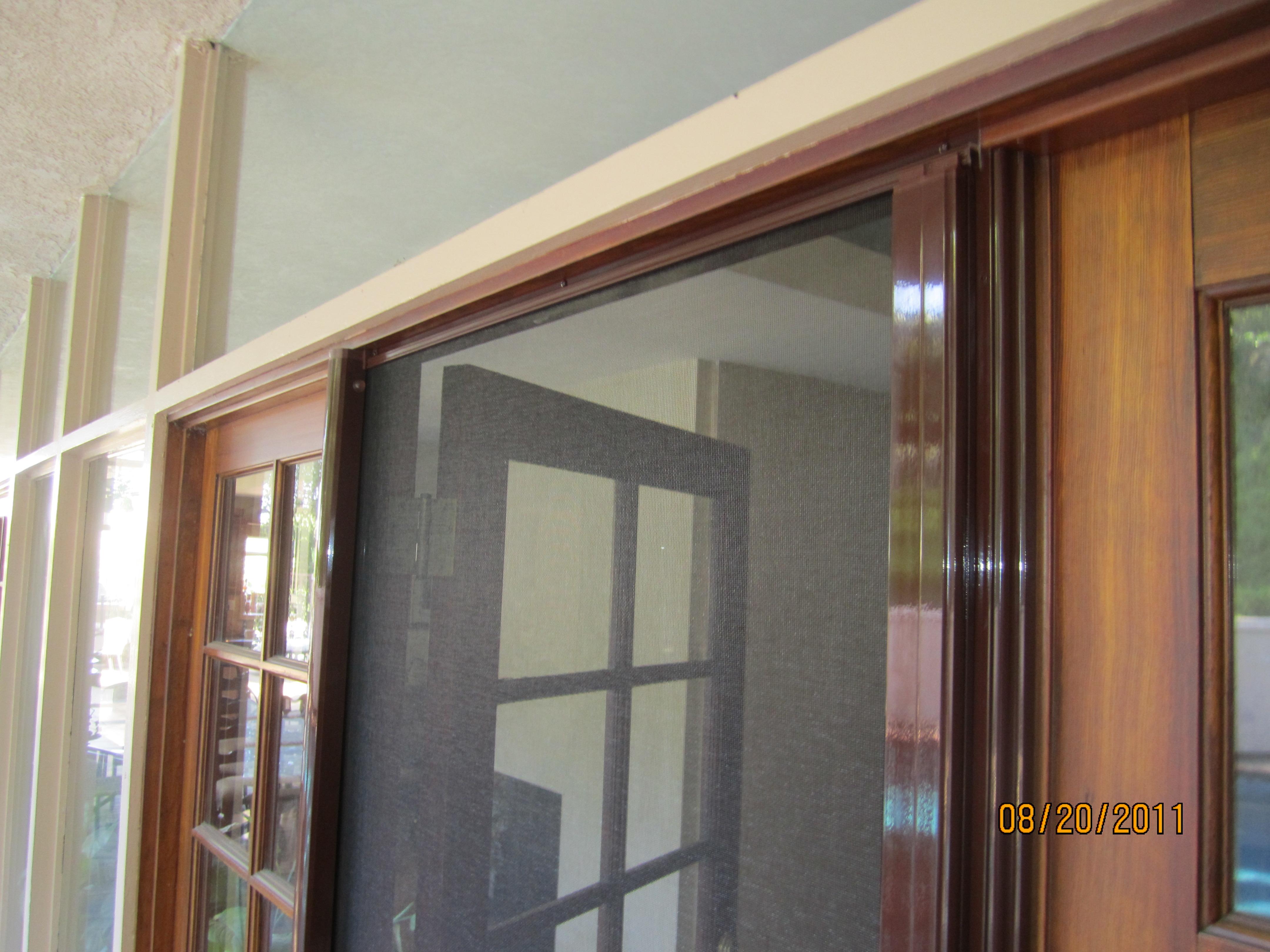 Open Retractable Door