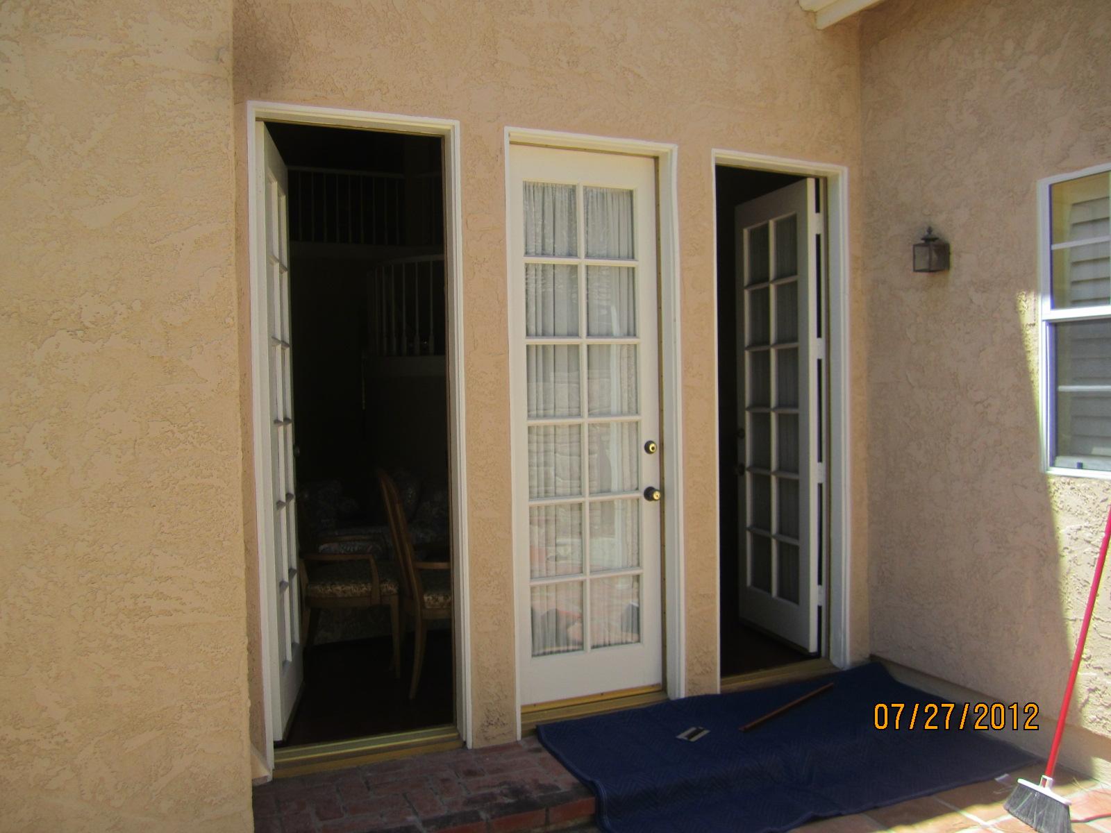 Single Swinging Doors Before installation in Northridge