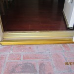 Single Swinging Door threshold after installation in Northridge