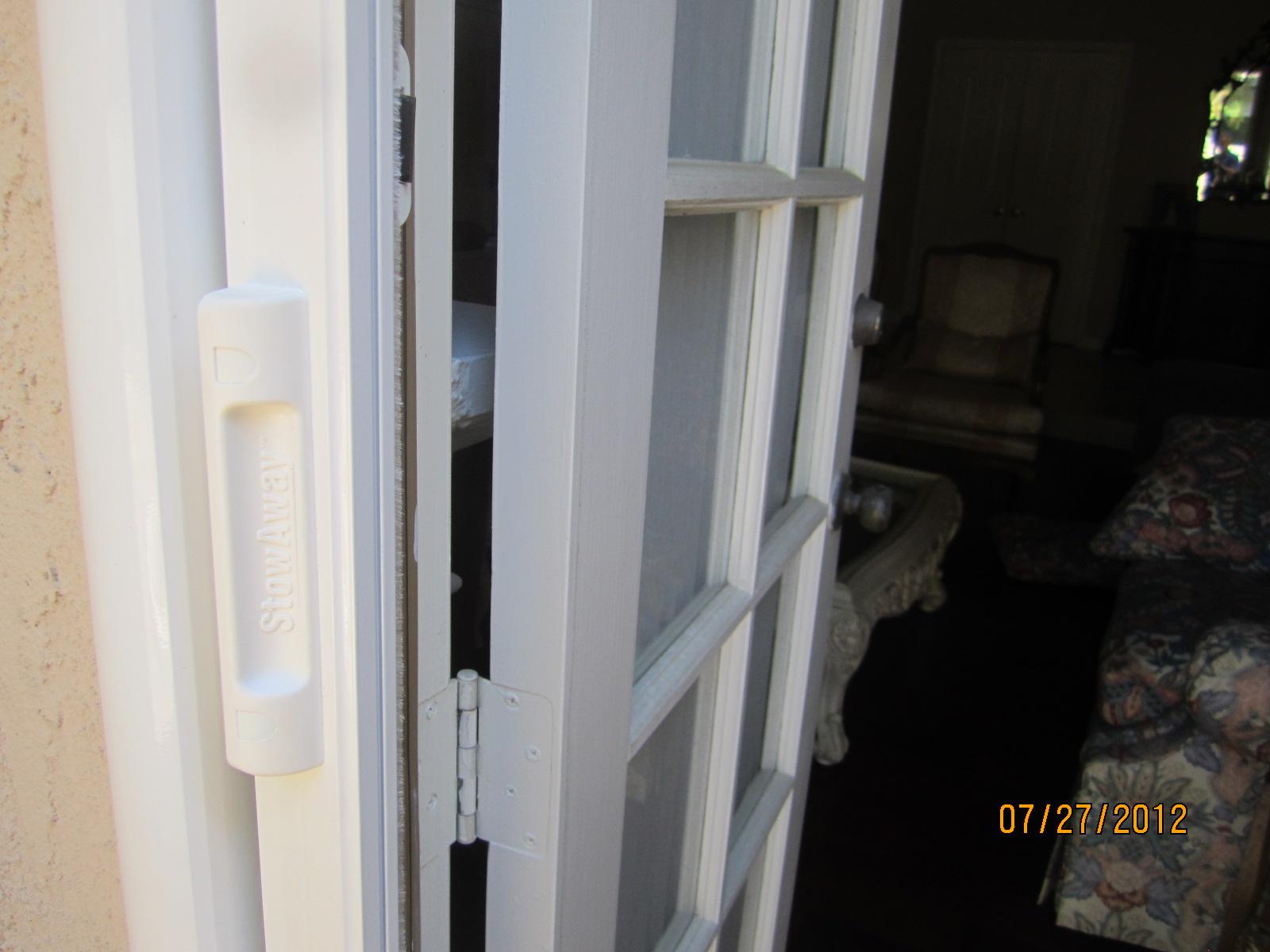 Installed Retractable Screen on Single Swinging Door in Northridge