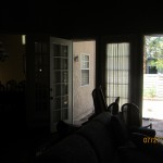 Interior View of Two Single Retractable Screen Doors Installed in Northridge