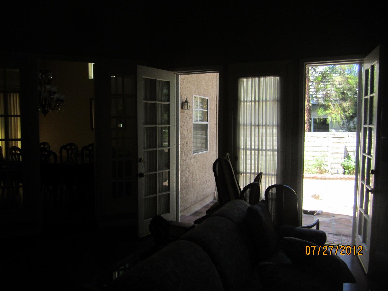 Interior View of Two Single Retractable Screen Doors Installed in Northridge