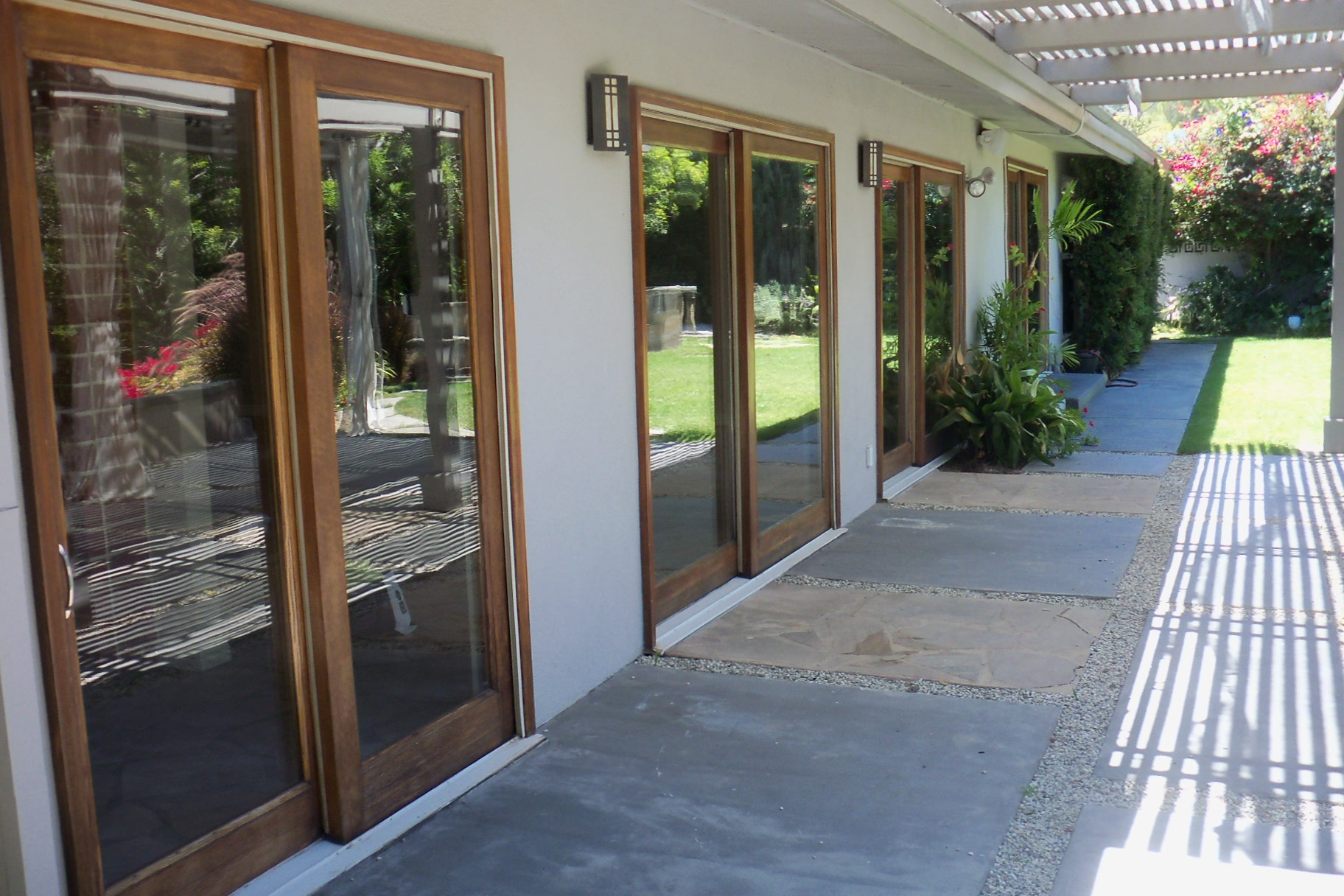 Before screen door installation in Studio City