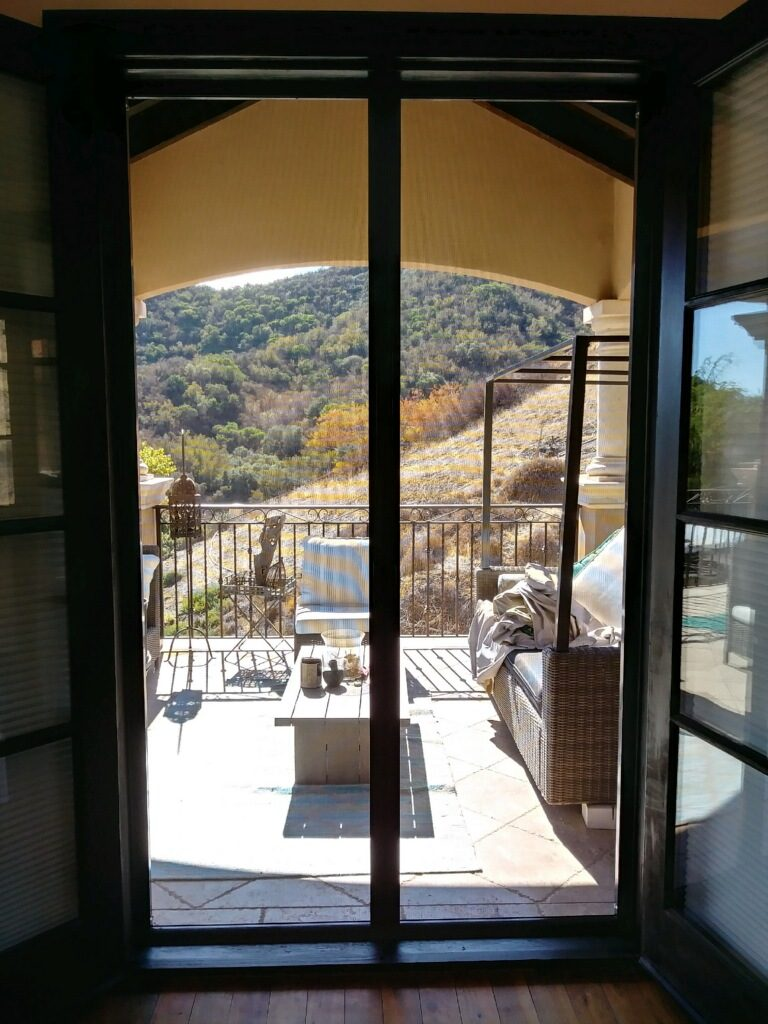 Bronze Retractable Screen Doors in Encino