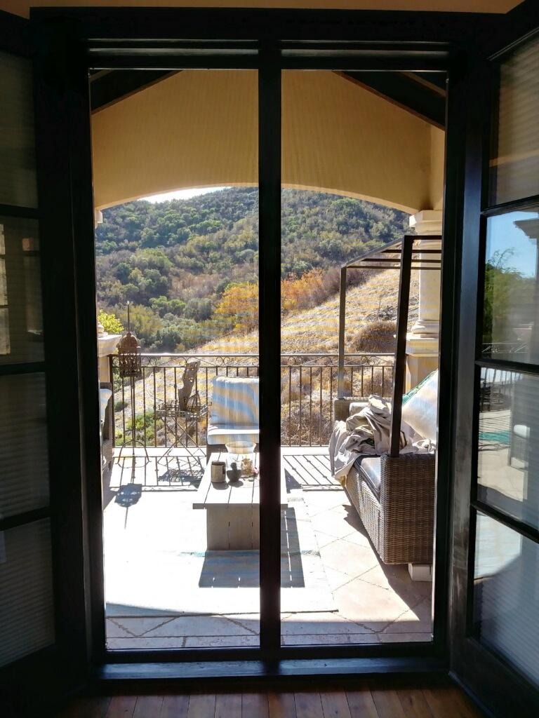 Bronze Retractable Screen Doors in Encino